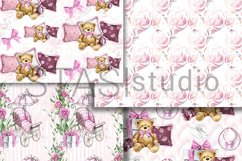 Baby Girl Paper Pack, New Baby Watercolor Seamless pattern Product Image 3