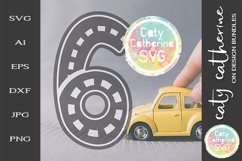 Road Map Kids Birthday Number Six SVG Cut File Product Image 1