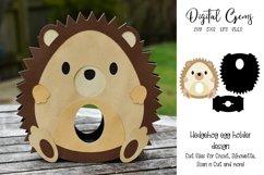 Hedgehog Easter egg holder design SVG / DXF / EPS Product Image 1