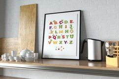 Vegetable Alphabet Nursery Printable, Digital ABC Poster Product Image 2