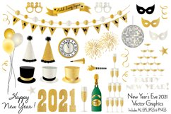 New Year's Eve 2021 Clipart Graphics Product Image 1