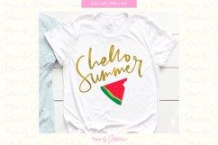 Summer svg kid, summer svg, summer svg files, watermelon svg Product Image 1