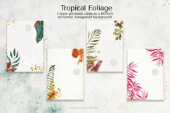 Tropical Foliage Watercolor Set Product Image 6