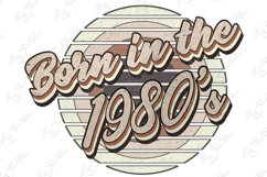 Retro born in the 1980s sublimation png, 1980s T-shirt desig Product Image 6