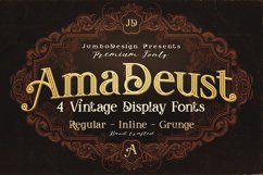 AmaDeust - Display Font Product Image 1