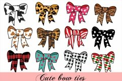 Cute Bow Ties, Hair Bow Clipart, Sublimation Bows Product Image 2