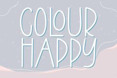 Colour Happy - Fun Sans Serif Font Product Image 1