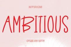 Ambitious - Fun Sans Serif Font Product Image 1