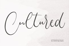 Cultured Handwriting Font Product Image 1