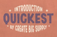 Quickest - Sans Serif Brush Font Product Image 1
