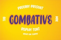 Combative - Display Font Product Image 1