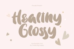 Healthy Glossy - Handwritten Font Product Image 1