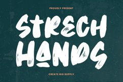 Strech Hands - Bold Brush Font Product Image 1