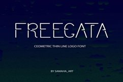 Modern Sans Serif font. FREEGATA - Thin Line Logo Font. Product Image 1