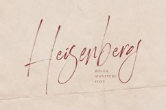 Heisenberg Signature Font Product Image 1