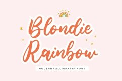 Blondie Rainbow Modern Calligraphy Font Product Image 1