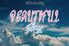 Beautiful Sky | Strong Brush Font Product Image 1