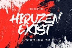 Hiruzen Exists - Textured Brush Font Product Image 1