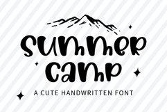 Summer Camp - A cute handwritten font Product Image 1