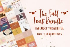 The Fall Font Bundle Product Image 1