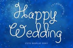 Happy Wedding Display font Product Image 1