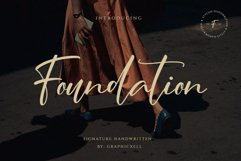 Foundation - Signature Font Product Image 1