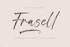 Frasell | Handwritten Font Product Image 1