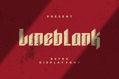 Lineblank Font Product Image 1