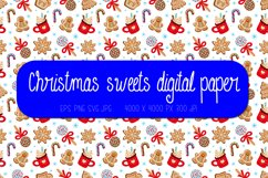 Christmas digital paper | Christmas sweets seamless pattern Product Image 1