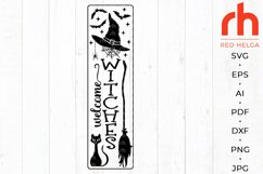 Welcome witches svg - Halloween porch sign svg Product Image 1