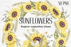 """Frames and Bouquets """"Sunflowers"""" Product Image 1"""