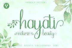 Hayati - beautiful handwritten font Product Image 1