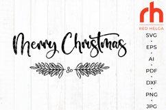 Merry christmas svg - Holly wreath svg - Christmas decor Product Image 1