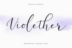 Violether Modern Calligraphy Font Product Image 1