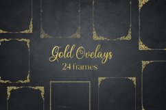 Gold Glitter Frames, Photo Effects Product Image 1