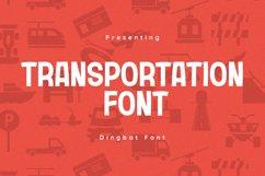 Transportation Font Product Image 1