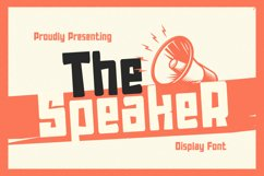 TheSpeaker Font Product Image 1