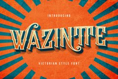 Wazintte - Victorian Decorative Font Product Image 1