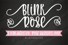 Blink Rose- A handwritten rose swashes font Product Image 1