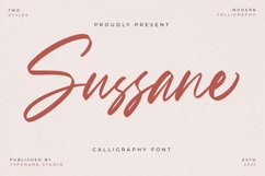 Sussane - Two Style Calligraphy Font Product Image 1
