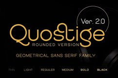 QUOSTIGE ROUNDED SANS SERIF FAMILY version 2.0 Product Image 1