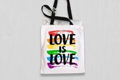 Love is love PNG Quotes Sublimation Designs LGBT Pride Month Product Image 2