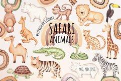 "Watercolor Clipart ""Safari Animals"" Product Image 1"