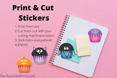 Cute Halloween Cupcake Stickers Product Image 2