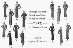 Vintage Fashion Clipart, 1920s Clipart, Cardmaking Product Image 1