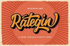 Rategin - Vintage Script Font Product Image 1