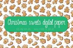 Christmas digital paper   Christmas sweets seamless pattern Product Image 1