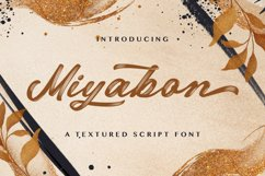 Miyabon - Textured Brush Font Product Image 1