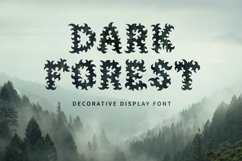 Dark Forest - Decorative Display Font Product Image 1