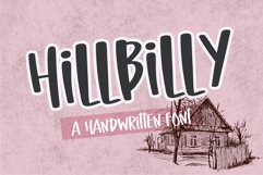 Hillbilly- A sweet handwrirtten font Product Image 1